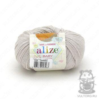 Пряжа Alize Baby Wool, цвет № 599 (Слоновая кость)