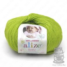 Пряжа Baby Wool Ализе, цвет № 612 (Фисташка)
