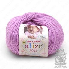 Пряжа Baby Wool Ализе, цвет № 672 (Нежно-розовый)