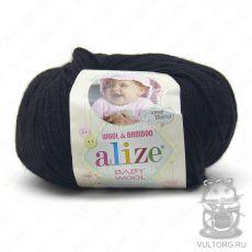 Пряжа Baby Wool Ализе, цвет № 60 (Чёрный)