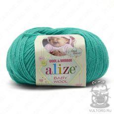 Пряжа Baby Wool Ализе, цвет № 610 (Изумруд)