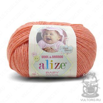 Пряжа Alize Baby Wool, цвет № 619 (Коралловый)