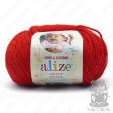 Пряжа Baby Wool Ализе, цвет № 56 (Красный)