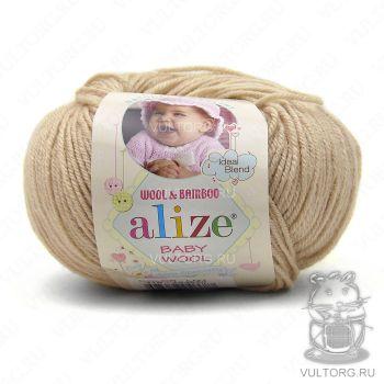 Пряжа Alize Baby Wool, цвет № 310 (Медовый)