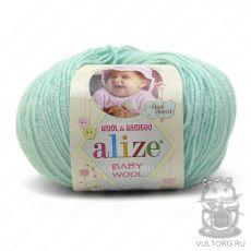 Пряжа Baby Wool Ализе, цвет № 19 (Водяная зелень)