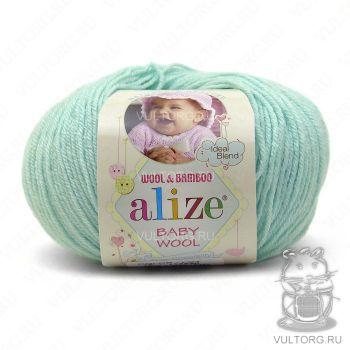 Пряжа Alize Baby Wool, цвет № 19 (Водяная зелень)