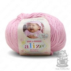 Пряжа Baby Wool Ализе, цвет № 185 (Светло-розовый)