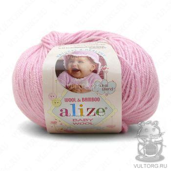 Пряжа Alize Baby Wool, цвет № 185 (Светло-розовый)