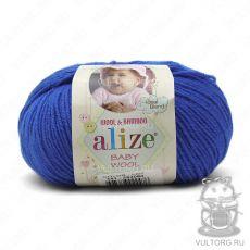 Пряжа Baby Wool Ализе, цвет № 141 (Василек)