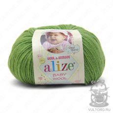 Пряжа Baby Wool Ализе, цвет № 255 (Ярко-оливковый)