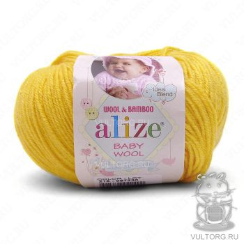 Пряжа Alize Baby Wool, цвет № 216 (Цыпленок)