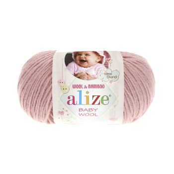 Пряжа Alize Baby Wool, цвет № 161 (Пудра)