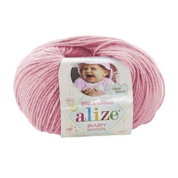 Пряжа Baby Wool Ализе, цвет № 194 (Розовый)