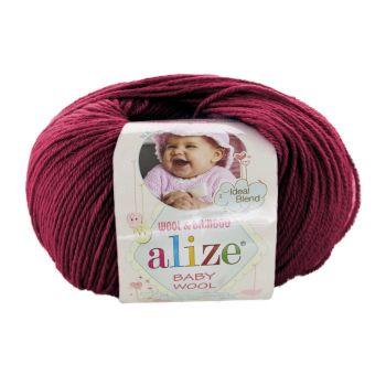 Пряжа Alize Baby Wool, цвет № 390 (Вишня)