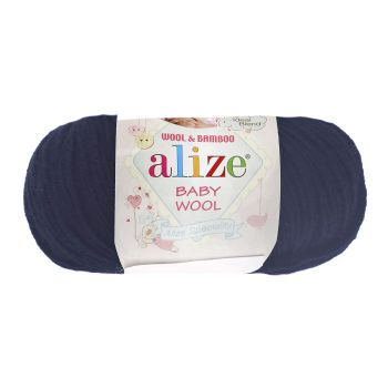 Пряжа Baby Wool Ализе, цвет № 58 (Темно-синий)
