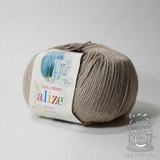 Пряжа Alize Baby Wool, цвет № 167 (Беж)