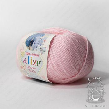Пряжа Alize Baby Wool, цвет № 184 (Пудра)
