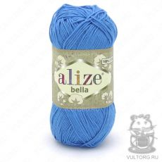 Пряжа Bella Ализе, цвет № 387 (Голубой сочи)