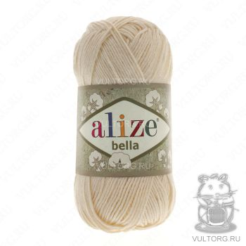 Пряжа Bella Ализе, цвет № 01 (Молочный)