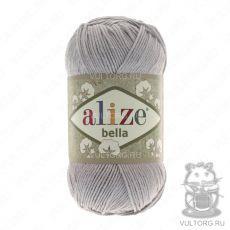 Пряжа Bella Ализе, цвет № 21 (Серый)