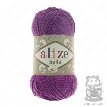 Пряжа Bella Ализе, цвет № 45 (Темно-фиолетовый)