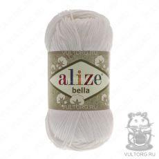 Пряжа Bella Ализе, цвет № 55 (Белый)