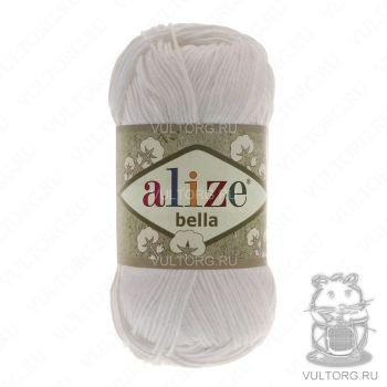 Пряжа Alize Bella, цвет № 55 (Белый)