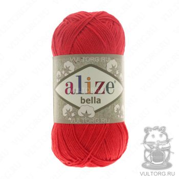 Пряжа Bella Ализе, цвет № 56 (Красный)
