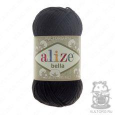 Пряжа Bella Ализе, цвет № 60 (Чёрный)