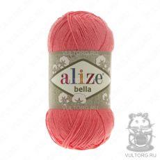 Пряжа Bella Ализе, цвет № 619 (Коралловый)