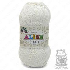 Пряжа Bodrum Ализе, цвет № 55 (Белый)