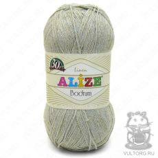 Пряжа Bodrum Ализе, цвет № 522 (Серо-зелёный)