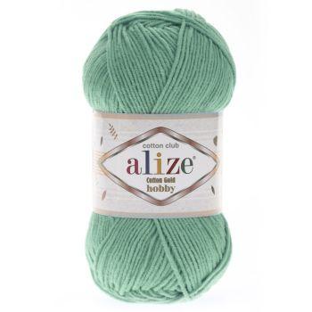 Пряжа Alize Cotton Gold Hobby, цвет № 15 (Водяная зелень)