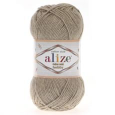 Пряжа Alize Cotton Gold Hobby, цвет № 152 (Бежевый меланж)