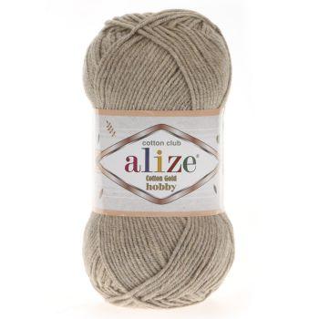 Пряжа Cotton Gold Hobby Ализе, цвет № 152 (Бежевый меланж)