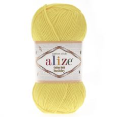 Пряжа Alize Cotton Gold Hobby, цвет № 187 (Светлый лимон)