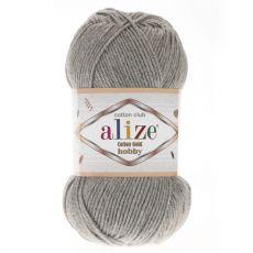 Пряжа Cotton Gold Hobby Ализе, цвет № 21 (Серый меланж)