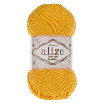 Пряжа Cotton Gold Hobby Ализе, цвет № 216 (Темно-желтый)