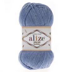 Пряжа Alize Cotton Gold Hobby, цвет № 374 (Голубой меланж)