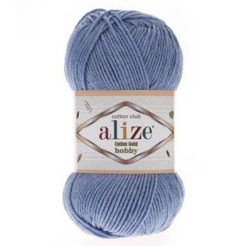 Пряжа Cotton Gold Hobby Ализе, цвет № 374 (Голубой меланж)