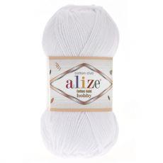 Пряжа Cotton Gold Hobby Ализе, цвет № 55 (Белый)