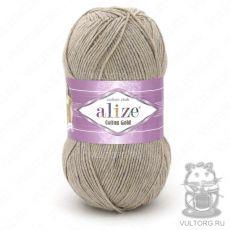 Пряжа Cotton Gold Ализе, цвет № 152 (Бежевый меланж)