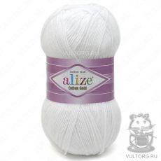 Пряжа Cotton Gold Ализе, цвет № 55 (Белый)