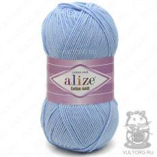 Пряжа Cotton Gold Ализе, цвет № 40 (Голубой)
