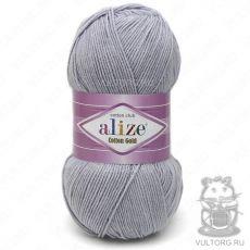 Пряжа Cotton Gold Ализе, цвет № 21 (Серый)