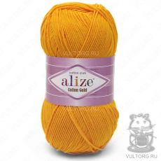 Пряжа Cotton Gold Ализе, цвет № 14 (Темно-жёлтый)