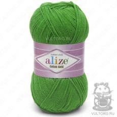 Пряжа Cotton Gold Ализе, цвет № 126 (Зелёная трава)