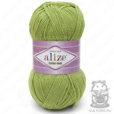 Пряжа Cotton Gold Ализе, цвет № 385 (Зелёный)