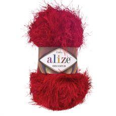 Пряжа Alize Decofur, цвет № 56 (Красный)