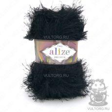 Пряжа Alize Decofur, цвет № 60 (Черный)